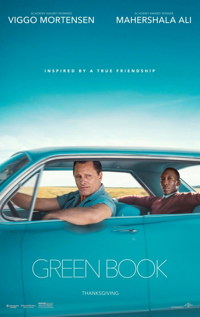 """Green Book"" movie poster, Universal Pictures, Angel Burns 2018 movie recommendations"