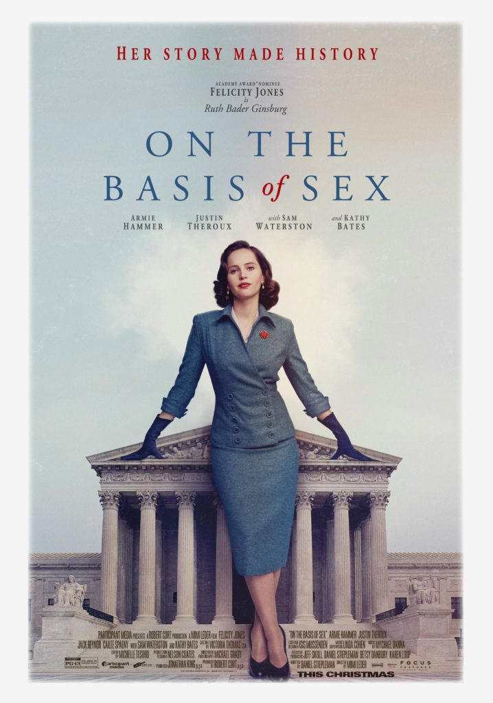 """On The Basis of Sex"" movie poster, Focus Features, Angel Burns 2018 movie recommendations"