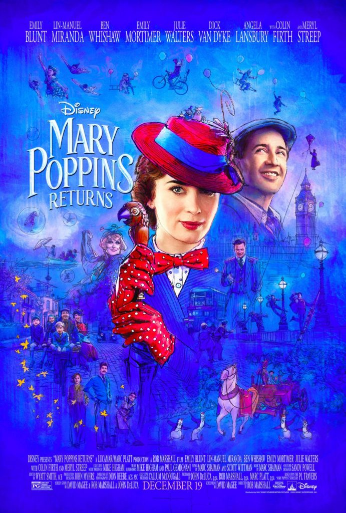 """Mary Poppins Returns"" movie poster, Disney, Angel Burns 2018 movie recommendations"